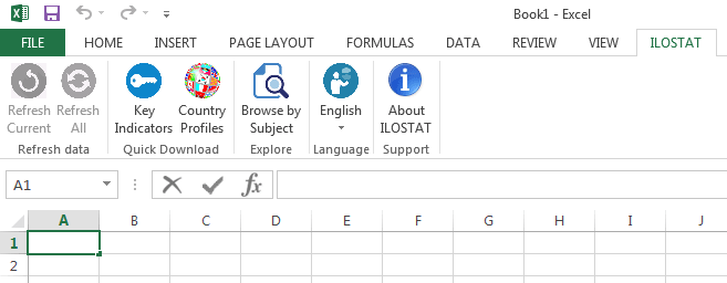 ILOSTAT Excel Add-In