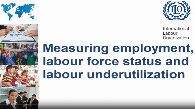 Meauring employment, labour force status and labour underutilization