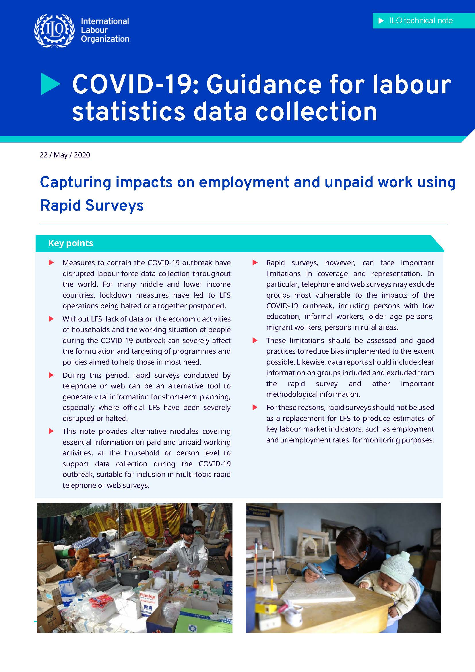 Capturing impacts on employment and unpaid work using Rapid Surveys