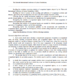 Resolution concerning statistics of occupational injuries (resulting from occupational accidents)