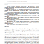 Resolution concerning the measurement of employment-related income