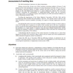 Resolution concerning the measurement of working time