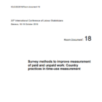 Survey methods to improve measurement of paid and unpaid work: Country practices in time-use measurement