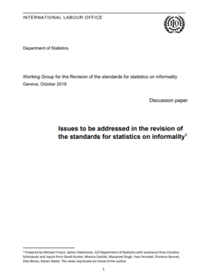 Issues to be addressed in the revision of the standards for statistics on informality