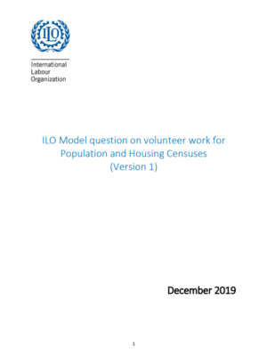 ILO Model question on volunteer work for Population and Housing Censuses