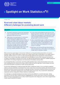Rural and urban labour markets: Different challenges for promoting decent work